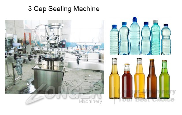 bottle caps sealing machine