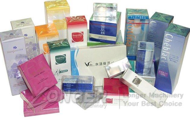 cosmetics box packing machine