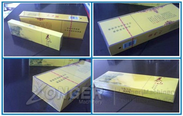 cellophane packaging machine for wrapping cigarette boxes