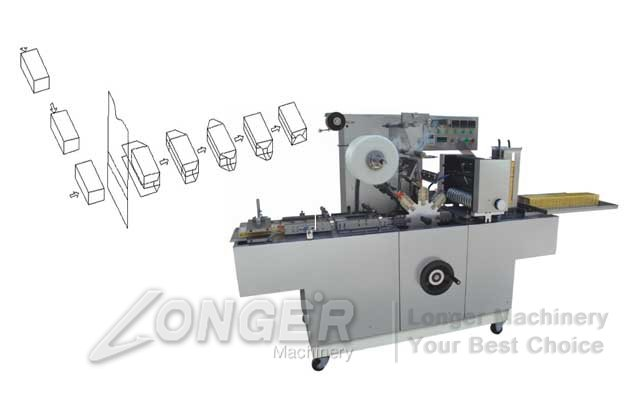 medical box cellophane packing machine