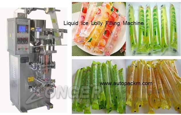liquid ice pop filling machine