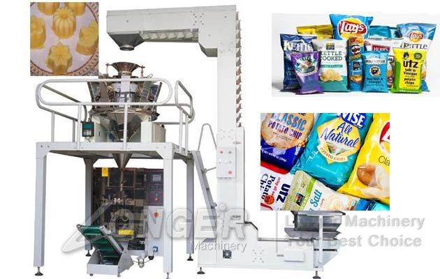 snacks chips packing machine