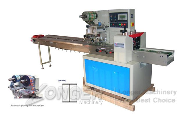flow wrapping machine for mooncakes