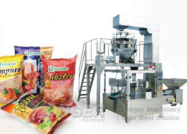 chips snack pouch packaging machine