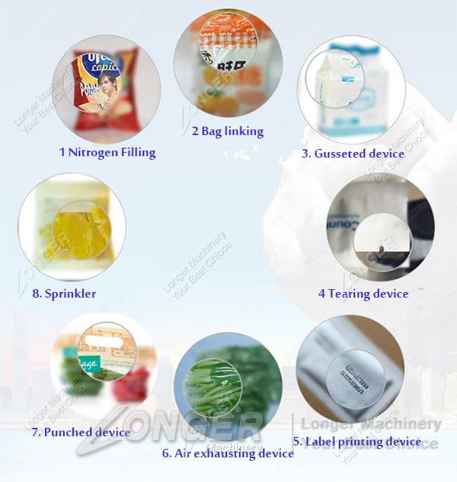 snack pouch packing machine