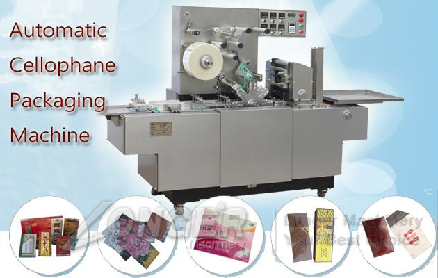 automatic bopp film transparent cellophane packing machine