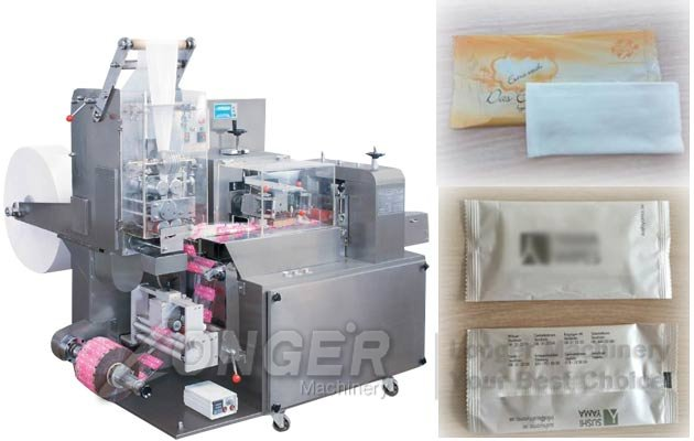 automatic wet tissue packaging machine