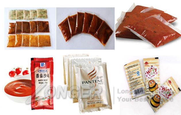 sauce pouch filling sealing machine