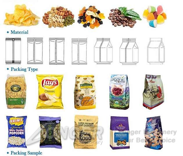 snack chips packing machine for sale