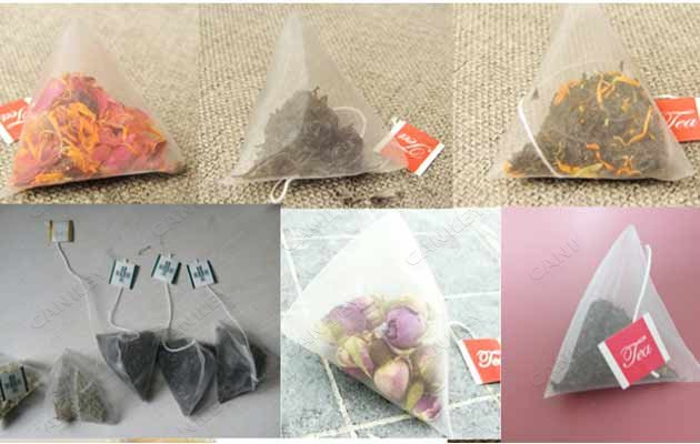 triangle tea bag packer machine