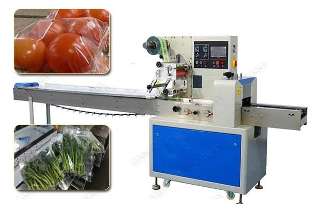 vegetable flow wrap machine