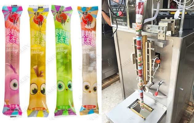 ice popsicle strip filling machine