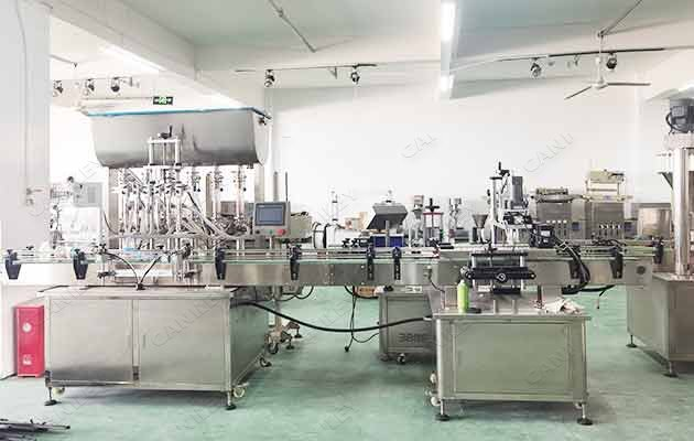 hand sanitizer filling plant